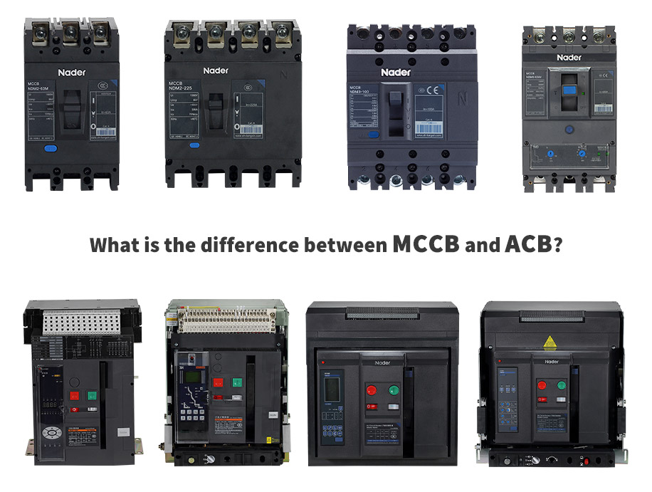 What is the difference between MCCB and ACB?