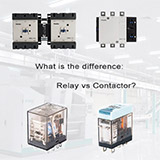 What is the difference between relay and contactor?
