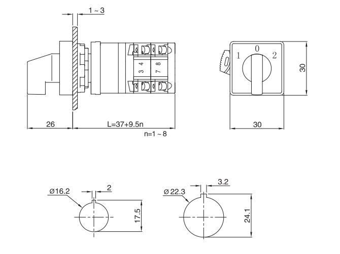 LW38D-10/C installation size