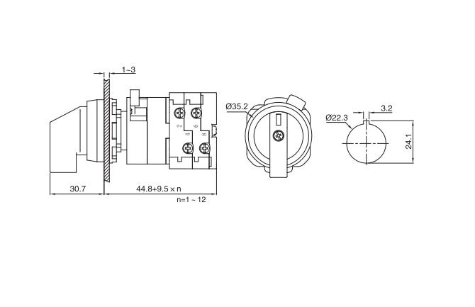 LW38D-16/CW installation size