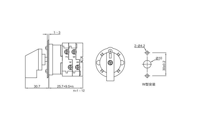 LW38D-16/W installation size