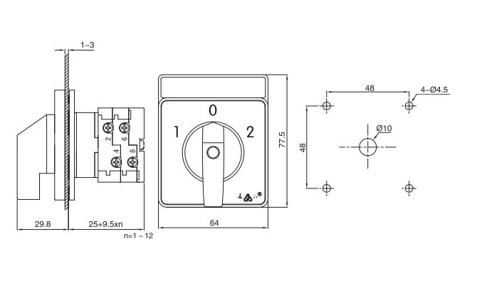 LW38E-16/P installation size