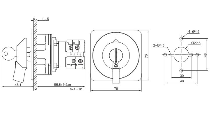LW38E-16/Y installation size